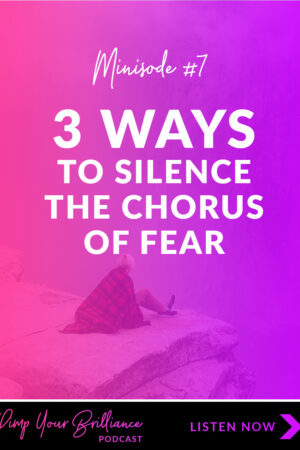 Fear by design is a defense mechanisms. It's supposed to protect you. Yet more often than not fear holds us back. Click through to learn 3 strategies for silencing the Chorus of Fear.