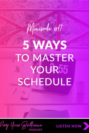 Without a plan in place guiding the use of our time, it's ridiculously easy to invest in work that doesn't help you get stuff done. In this episode, I'm sharing 5 ways to master your schedule and maximize your productivity.