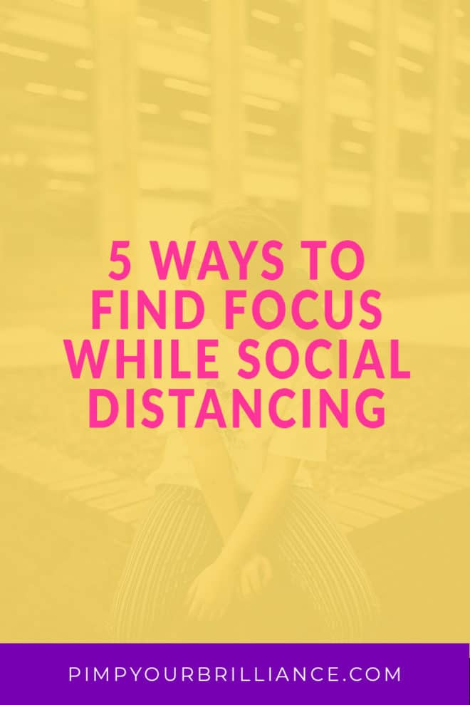 I know many of us are working from home now, some for the very first time and that presents its own challenges. So I want to share a few ways to find focus while social distancing.