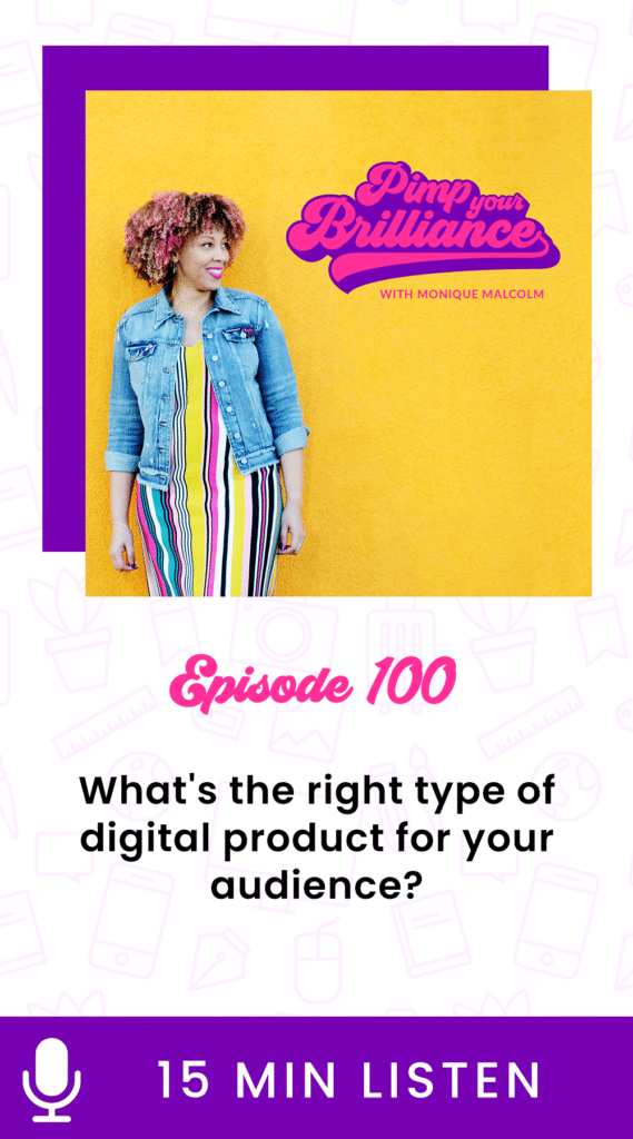 Today's show is going to give you a headstart on figuring out what's the right type of digital product to create for your audience. I have lots of thoughts on this and a few of them might surprise you. So in this episode, I'm sharing things to consider when choosing a digital product to create for your audience.